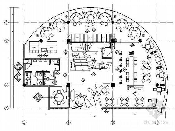 [江苏]无锡某高档风味特色餐厅室内设计施工图(含实景)
