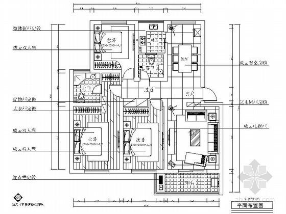 [浙江]简约三室两厅两卫装修图