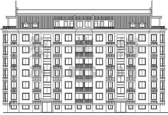 一套完整的多层住宅楼建筑施工图