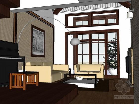 别墅室内场景sketchup模型下载