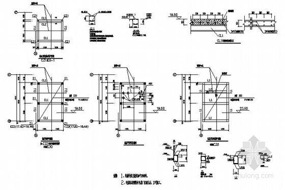 钢框架结构电梯节点构造详图