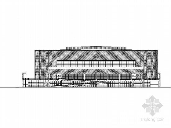 [北京]某知名大学三层体育馆建筑施工图