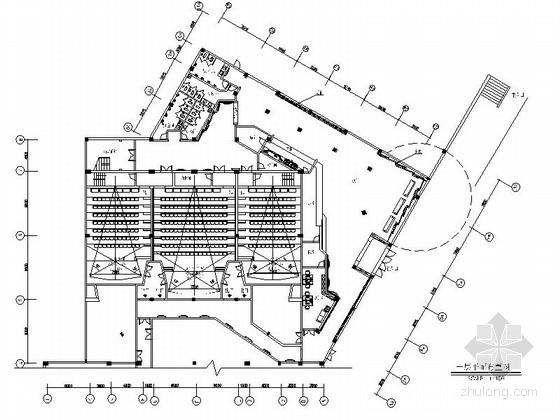 某电影院公共区域及卫生间室内装修施工图(含效果)