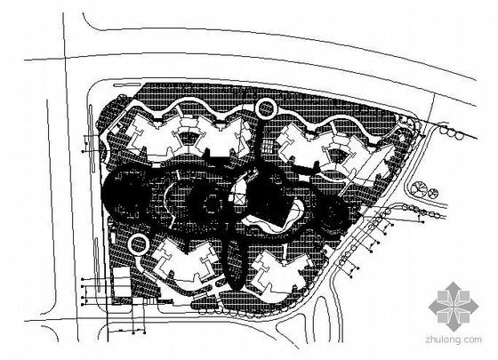 北京住宅区景观施工图