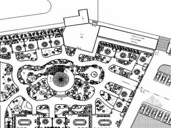 某地餐厅附属小游园景观设计施工图
