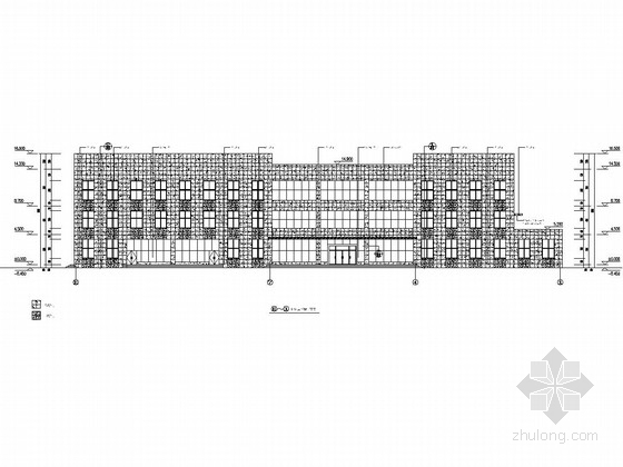 [石材幕墙]三层驾考技术服务区楼外墙施工图(2栋)
