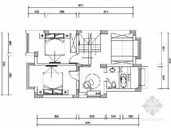 [江苏]精致英式田园风格三层别墅室内设计方案