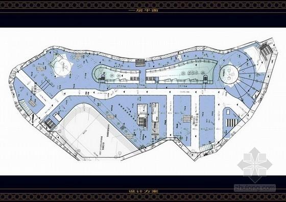 [山东]某大型欧式购物广场设计方案图