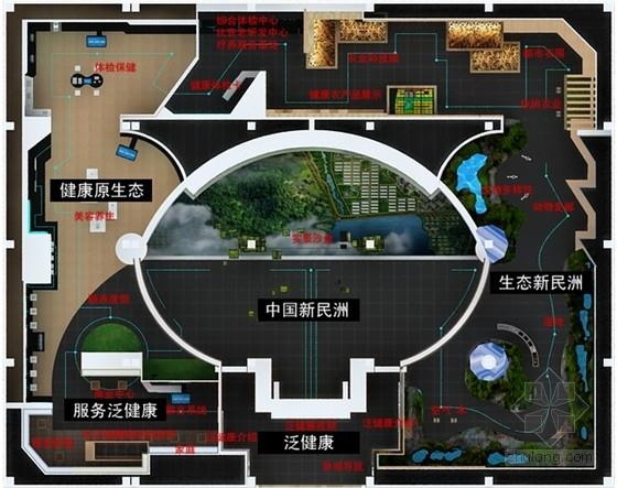 [江苏]现代风格生态产业园展厅体验馆室内设计方案(设计逻辑清晰,力荐!)