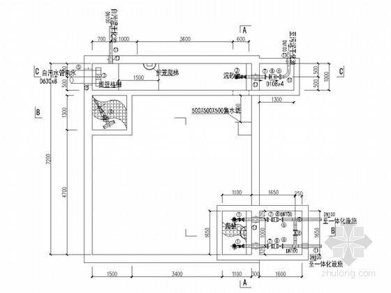 [四川]黑臭河渠整治工程污水处理设施施工图