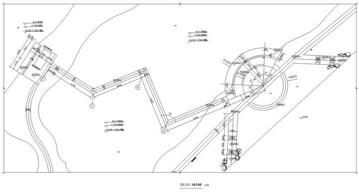 [武汉]高档居住区附属滨湖公园景观工程施工图-节点三平面