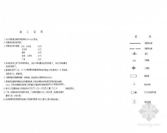 [北京]某医院暖通课程设计图11张(附热负荷计算书和水力计算表)