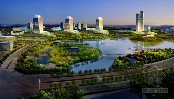 [山西]城市核心地块工业园区规划设计方案文本-城市核心地块工业园区规划效果图
