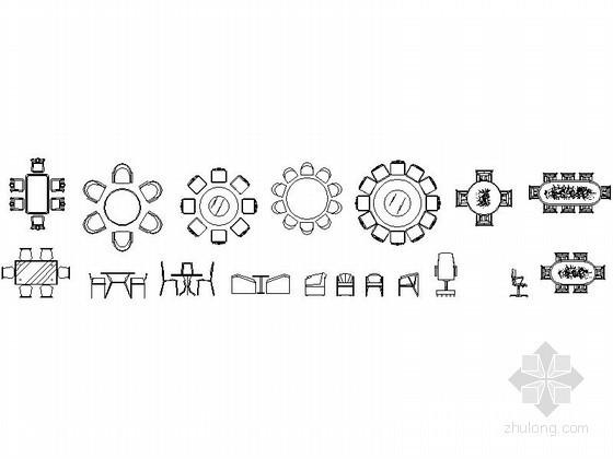 各式家装家具CAD图块下载