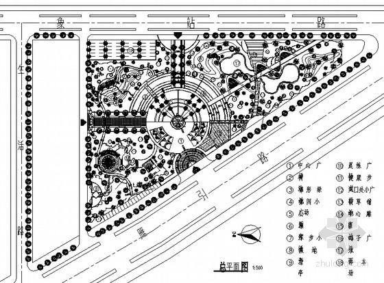 [西安]主题公园景观绿化全套施工图