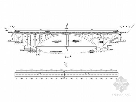 U台施工图资料下载-一孔60米石拱跨线拱桥全套施工图(13张 含拱架)