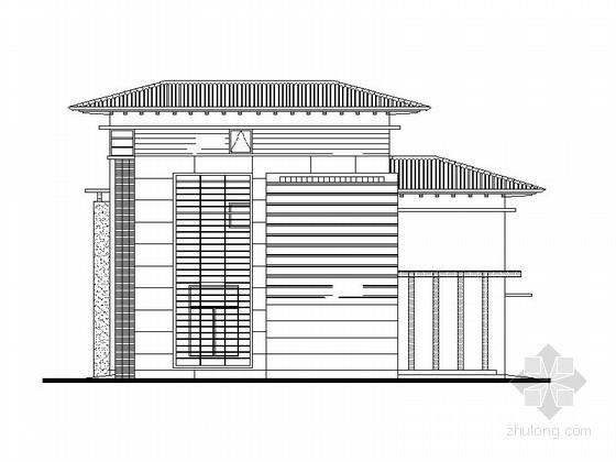 [莆田]湄洲岛鹅尾山某三层别墅(A型)建筑施工图