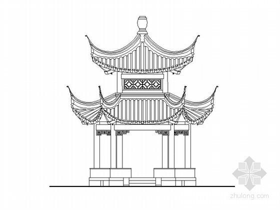 [合集]各种中式亭建筑施工图