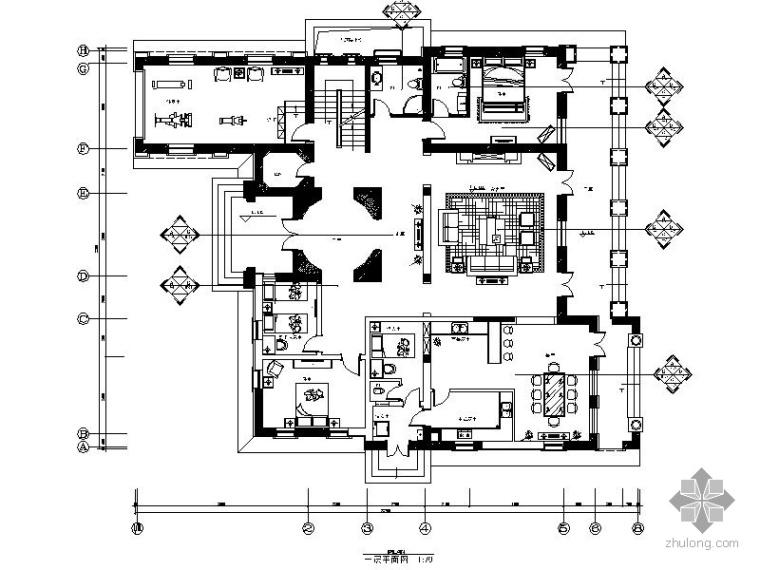 [北京]北美风独栋双层别墅室内装修图(含效果)