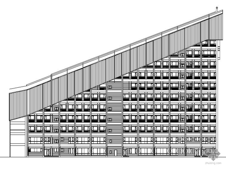 [北京]某冰雪世界配套会议中心建筑施工套图及配套幕墙施工图节部分文本(含效果图)