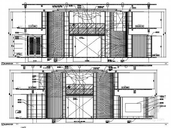 [厦门]中央商务区五星级豪华酒店装修图(含效果)大堂立面图