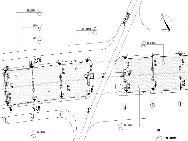 星沙联络桥道路工程西侧桥下排水及地下停车场施工图纸