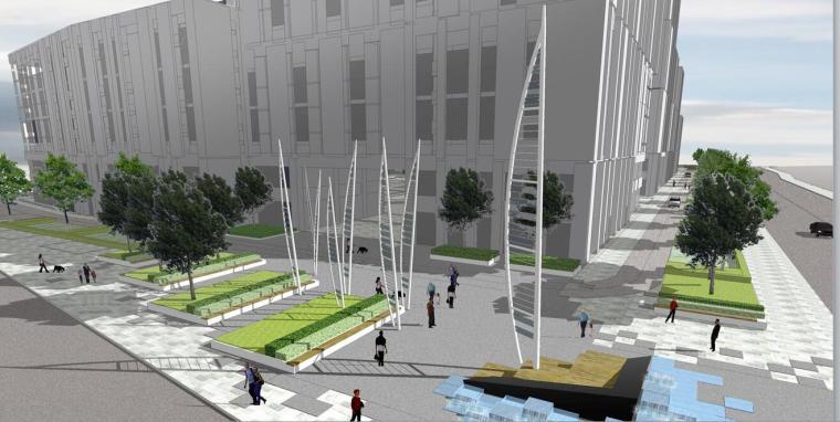 [浙江]某水上乐园公园景观方案设计文本PDF(107页)-街區入口空間1