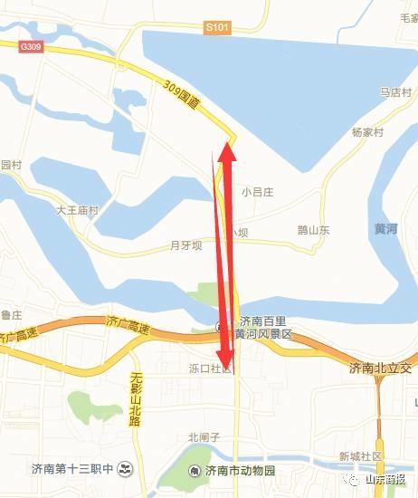 穿黄隧道大致位置图