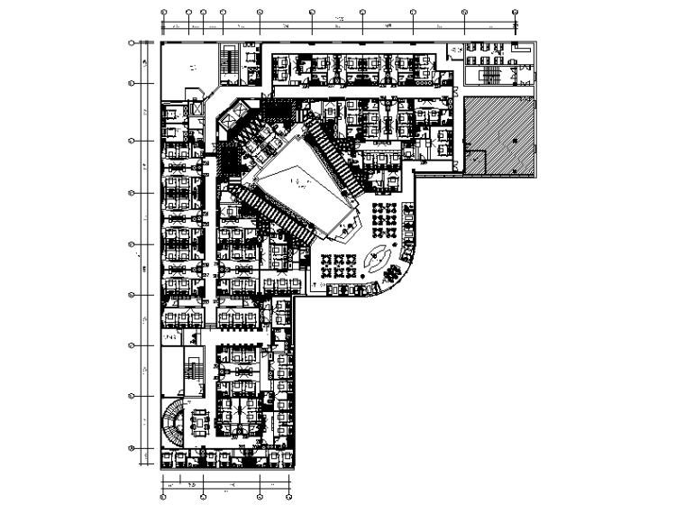 [福建]福州某混搭风格酒店设计CAD施工图(含效果图)