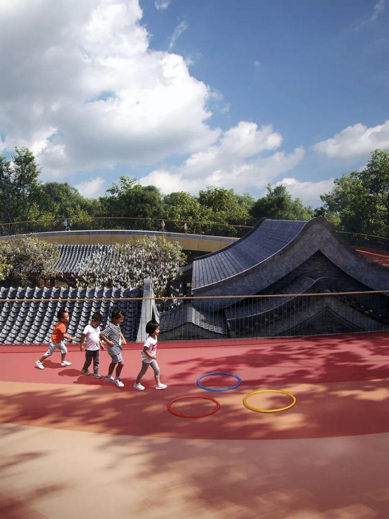 MAD为北京四合院幼儿园设计了一个漂浮屋顶,可以撒欢儿跑!