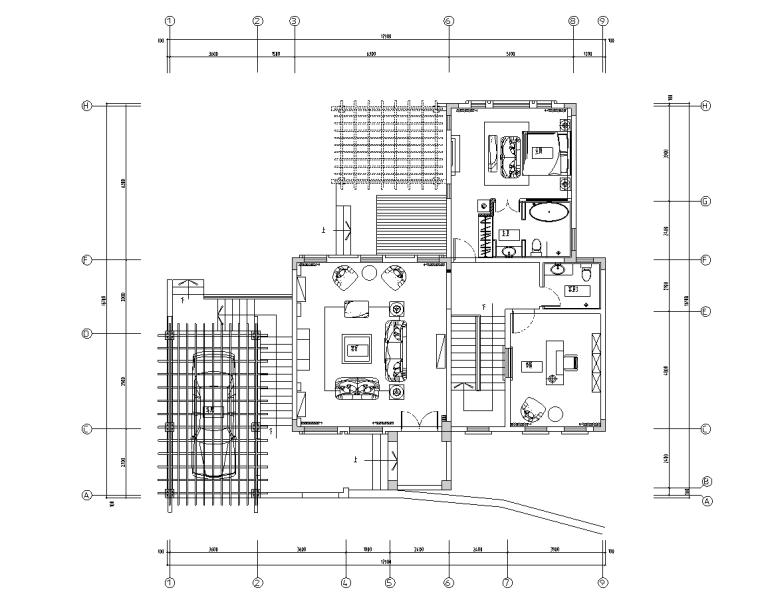 [广东]托斯卡纳风格别墅室内施工图设计(包含CAD+JPG)