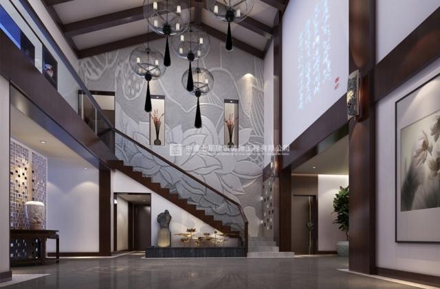精装公寓新中式风格装修效果图案例_安彩公寓