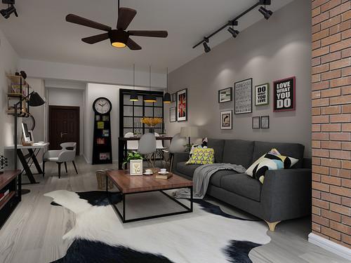 国泰一品庄园装修设计效果图-客厅采用不同深度的灰色,营造出第1张图片