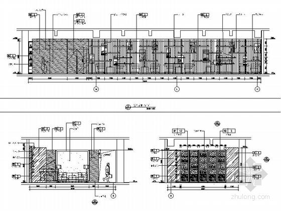 [四川]2.79亿夺标大厦改建四星级高档奢华酒店装修施工图(含方案)大堂吧立面图