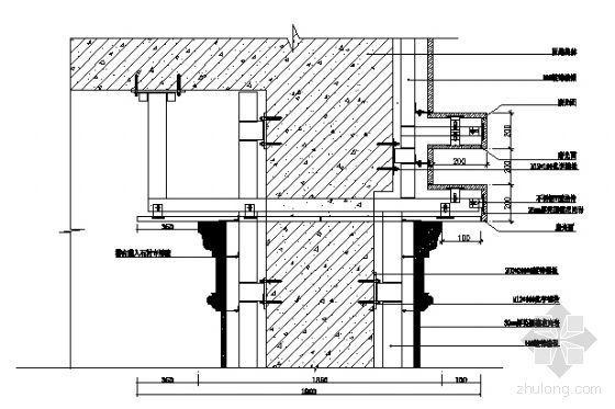 柱头与B线条节点大样图