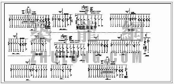 大型商场照明系统图