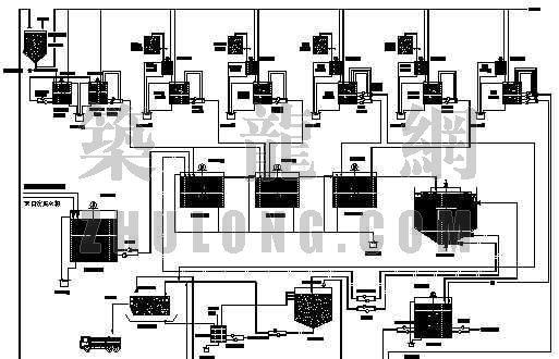 广东某脱硫废水处理工艺流程图