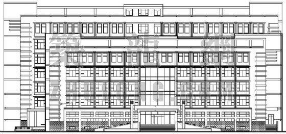 东营市某区政府办公楼建筑施工图