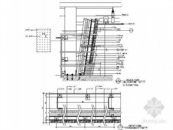 成套吸引材料墙面装饰造型节点详图CAD图块下载