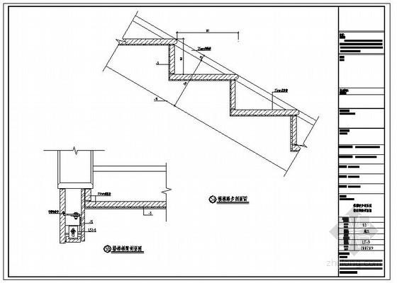 某建设大厦一层钢架弧形楼梯结构设计图