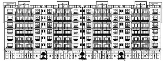 七层底商住宅建筑施工图