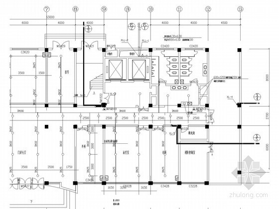 医院全套给排水及消防施工图(自动喷淋)