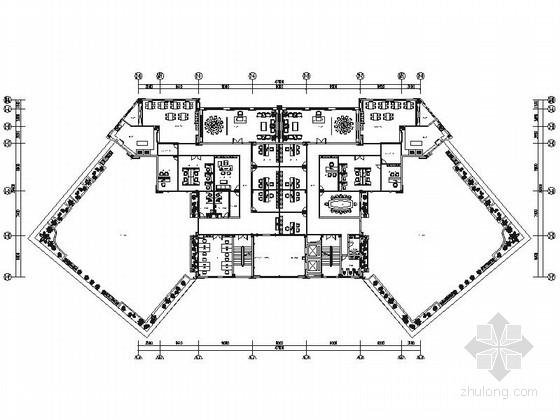 [湖北]精品高级典雅办公楼室内装修施工图(含效果)