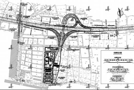 [湖北]高速公路5条匝道A型单喇叭互通新建工程交通安全设施设计图111张