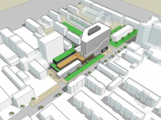 U形办公资料下载-[北京]十一层办公楼建筑设计方案文本(含cad 国内知名建筑设计师设