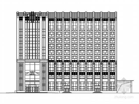 [哈尔滨]9层现代风格商务酒店建筑设计施工图(2016最新资料)