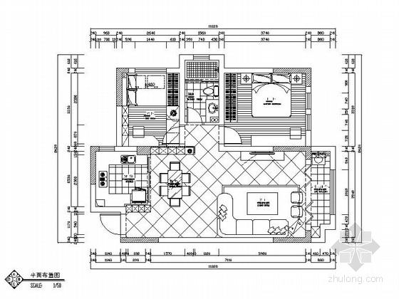 [长沙]生态新城欧式风格两居室装修图