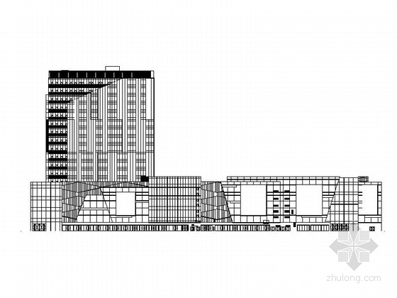 [南昌]高层框架结构L型玻璃幕墙旅馆建筑施工图