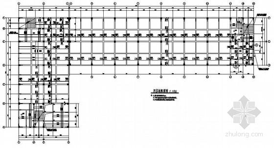 四层框架钢结构生产及辅助厂房施工图