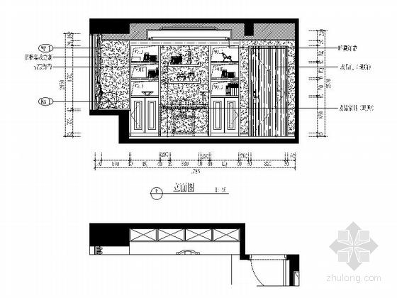 [福州]现代风格130平三居室装修图(含效果)主卧立面图